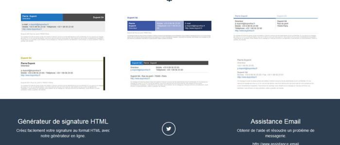 Générateur de signature HTML